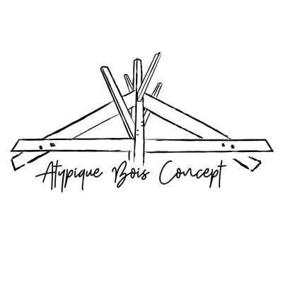 logo atypique bois concept
